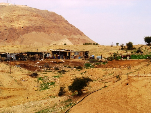 Bedouins living an earthy existence